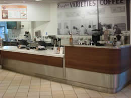 Counter at Krispy Kreme