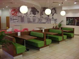Seating at Krispy Kreme